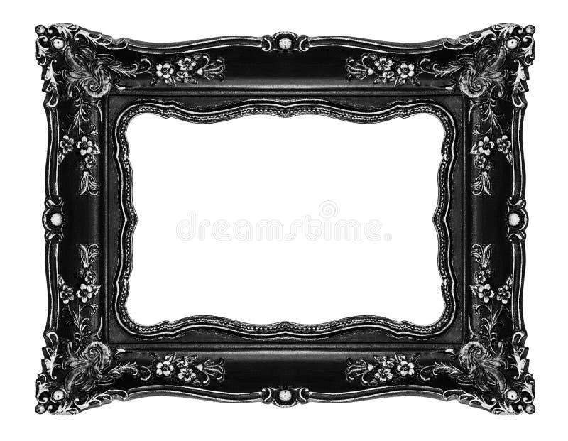 Marco Adornado Negro En Blanco Imagen de archivo - Imagen de cuadro ...