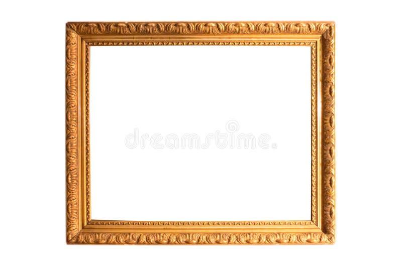 Marco aislado de la foto, marco antiguo de oro de la foto stock de ilustración