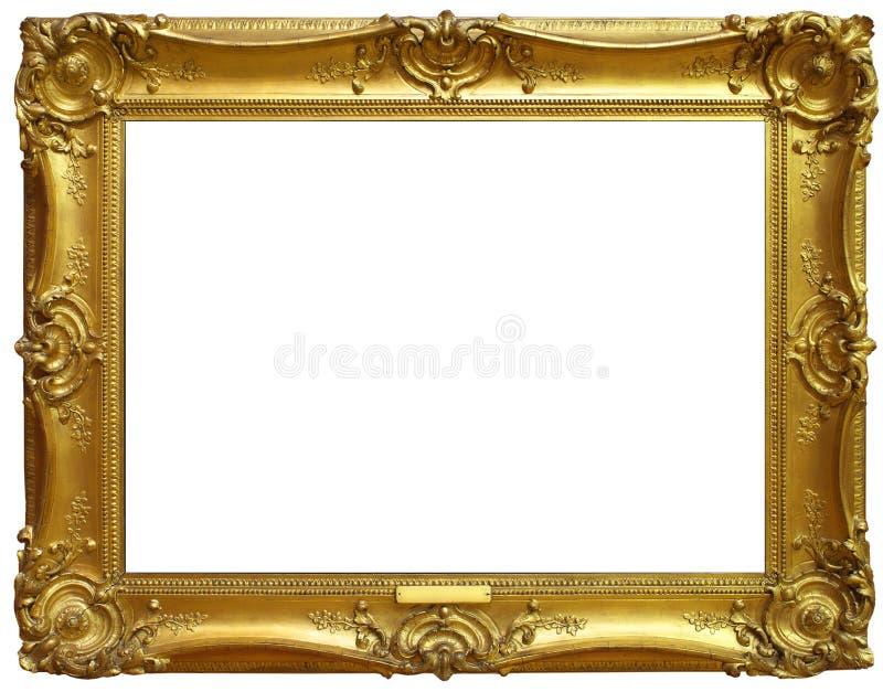 Marco aislado del oro viejo imagen de archivo