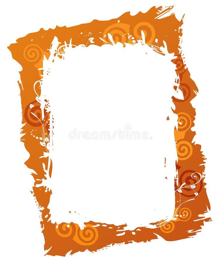 Marco anaranjado ilustración del vector