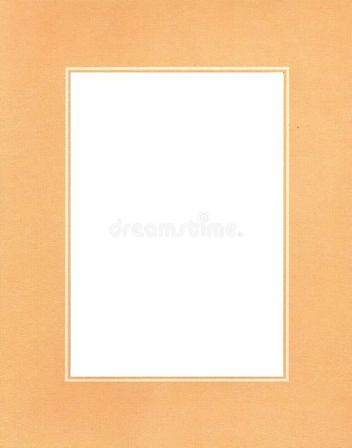 Marco anaranjado de la foto fotos de archivo libres de regalías