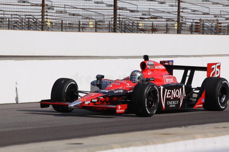 Marco Andretti Indianapolis 500 Pole Tag Indy 2011 stockbilder