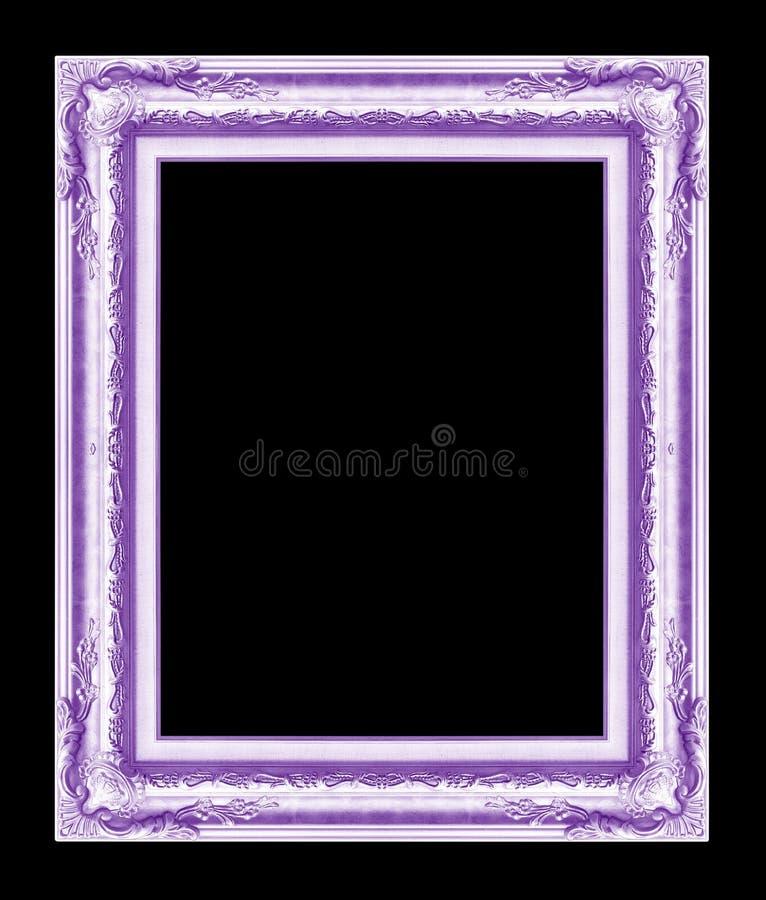 Marco Antiguo Aislado En El Fondo Negro, Color Púrpura Foto de ...