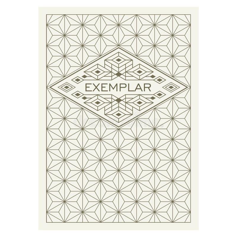Marco antiguo de lujo de Art Deco Flourishes del vintage Plantilla ornamental del vector de la tarjeta de felicitación Cubierta d ilustración del vector