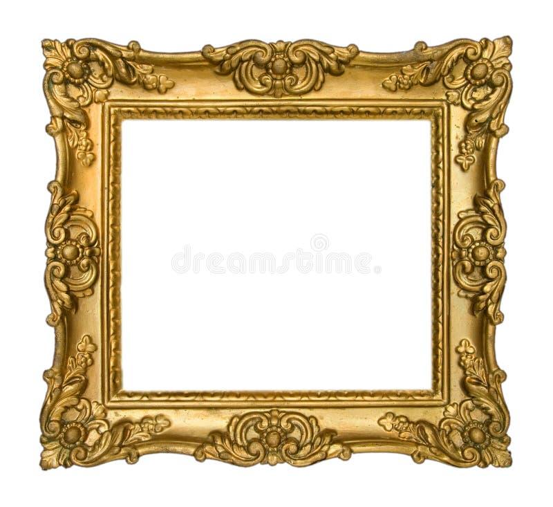 Marco antiguo del oro imagen de archivo