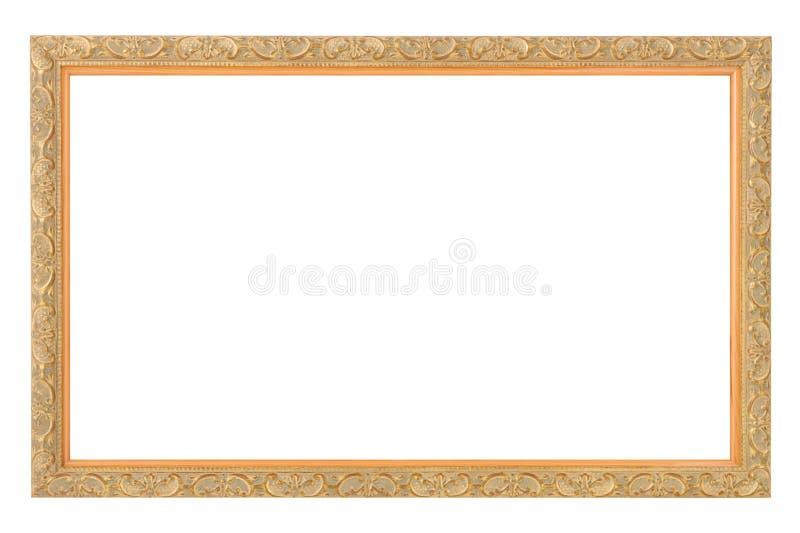 Marco antiguo del oro foto de archivo