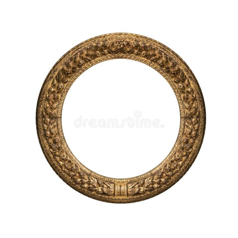 Marco Antiguo Redondo Del Oro Imagen de archivo - Imagen de galería ...