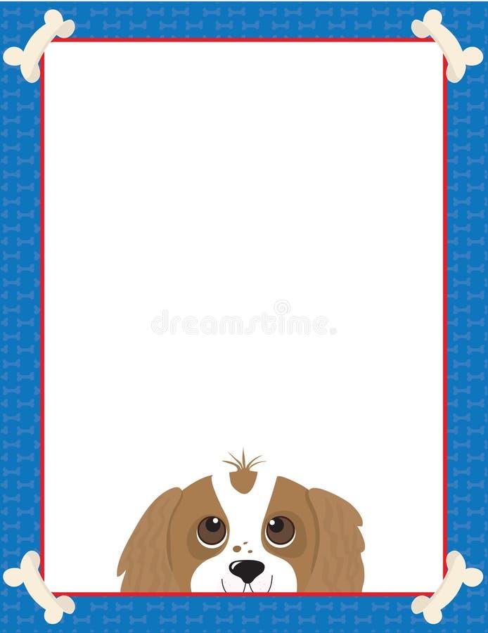 Marco arrogante del perro de aguas de rey Charles stock de ilustración
