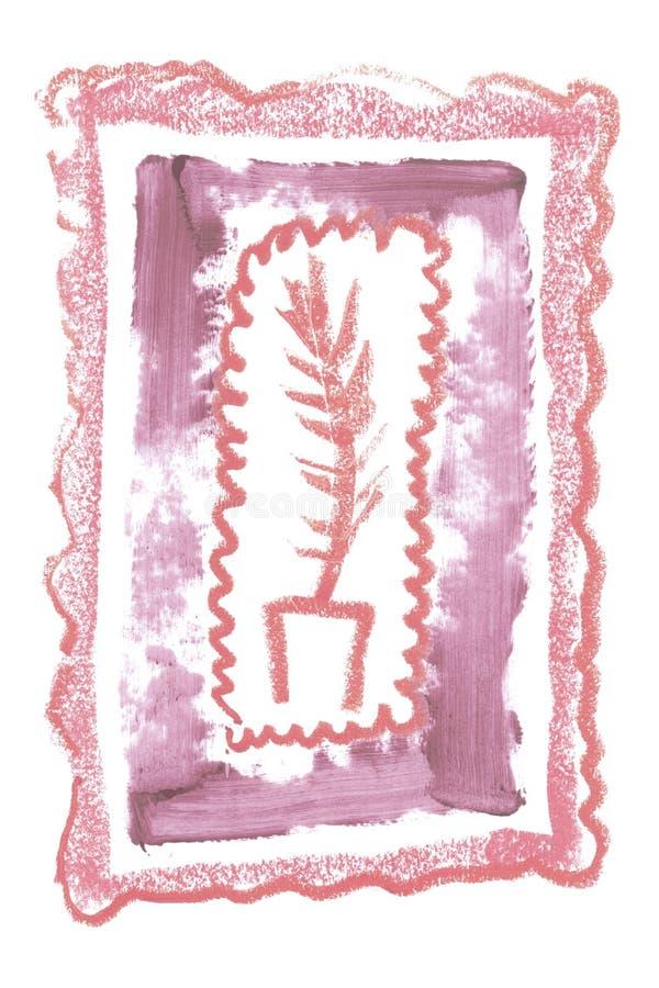 Marco artístico del vintage con la textura cosmética del lápiz labial natural para la creación de la invitación de la boda de la  foto de archivo libre de regalías