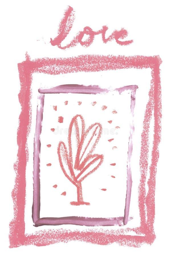 Marco artístico del vintage con la textura cosmética del lápiz labial natural para la creación de la invitación de la boda de la  imágenes de archivo libres de regalías