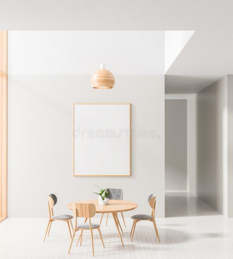 Marco ascendente falso del cartel en comedor escandinavo del estilo Dise?o minimalista del comedor ilustraci?n 3D libre illustration