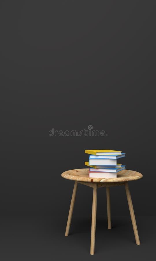 Marco ascendente falso en renderin amarillo del sofá 3D del sitio interior ilustración del vector