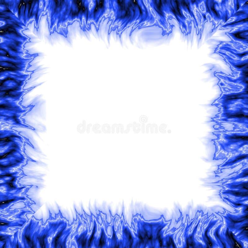 Marco azul fotografía de archivo