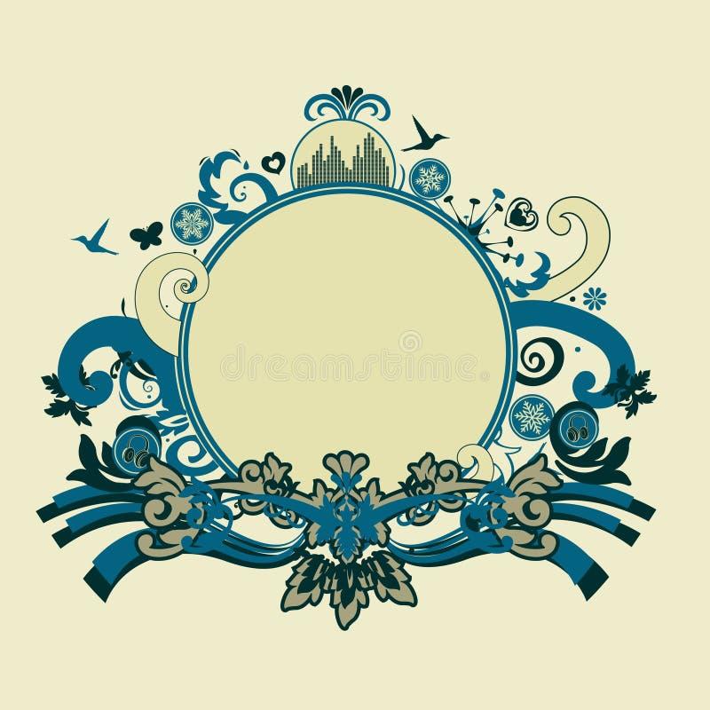 Marco azul stock de ilustración