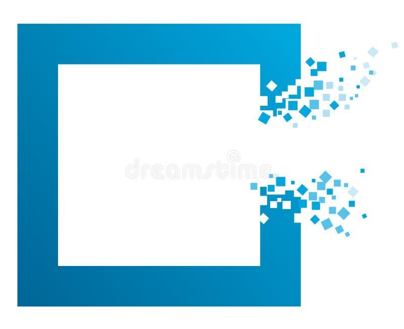 Marco azul con la apertura ilustración del vector