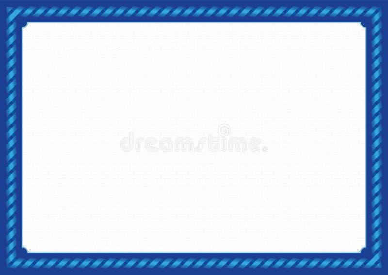 Marco azul con la cinta stock de ilustración