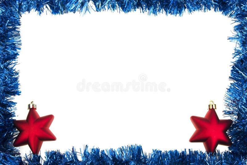 Marco azul de la guirnalda imagen de archivo libre de regalías