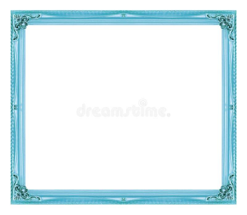 Marco azul de la imagen antigua aislado en el fondo blanco - Marco foto antigua ...