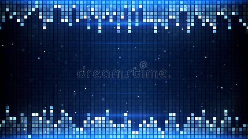 Marco azul de los cuadrados que brilla intensamente libre illustration