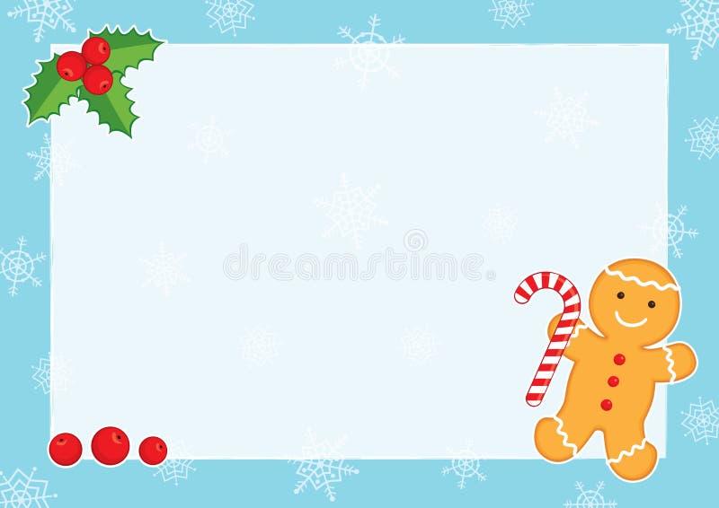 Marco Azul A3 De Navidad Horizontal Ilustración del Vector ...