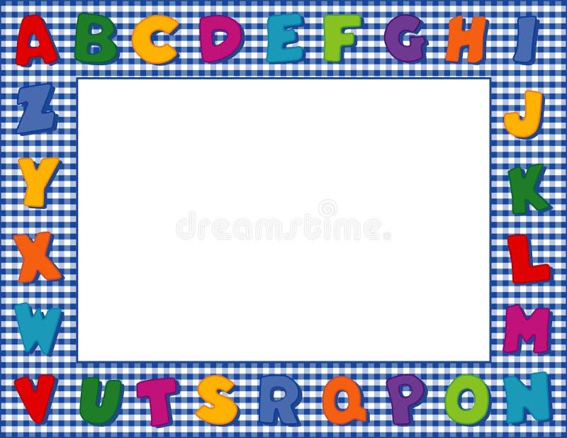 Marco Azul Del Alfabeto De La Guinga De +EPS Ilustración del Vector ...