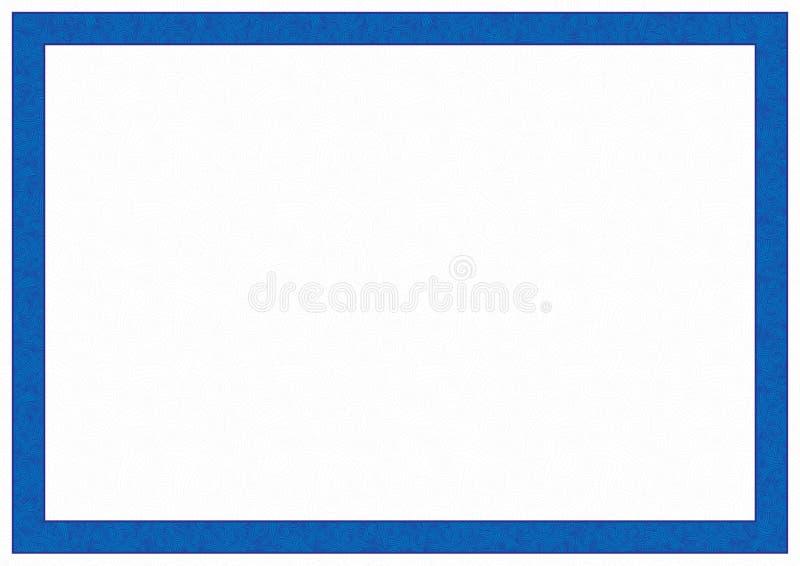 Marco azul en un fondo del modelo stock de ilustración