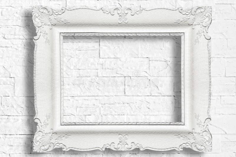 Marco barroco blanco imagenes de archivo