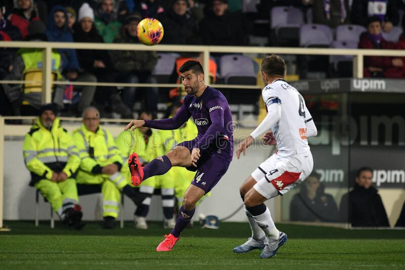 italian Serie A soccer match ACF Fiorentina vs Genoa CFC stock photo