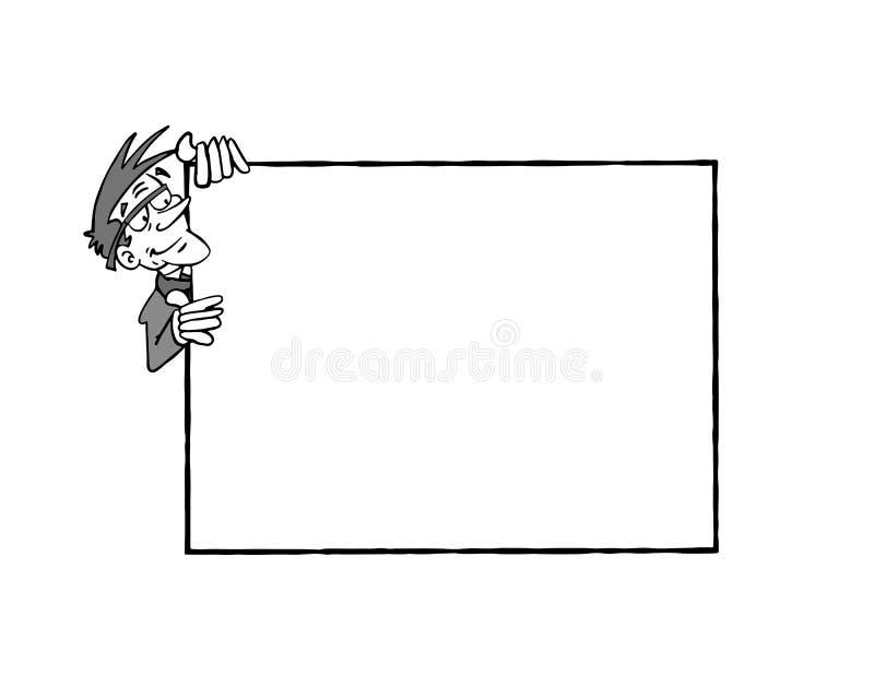 0011 marco Bertrand B&W stock de ilustración