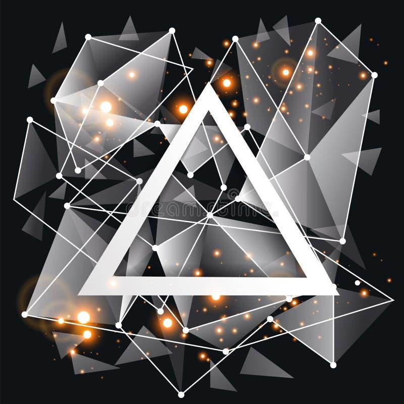Marco Blanco Abstracto En Triángulo Ilustración del Vector ...
