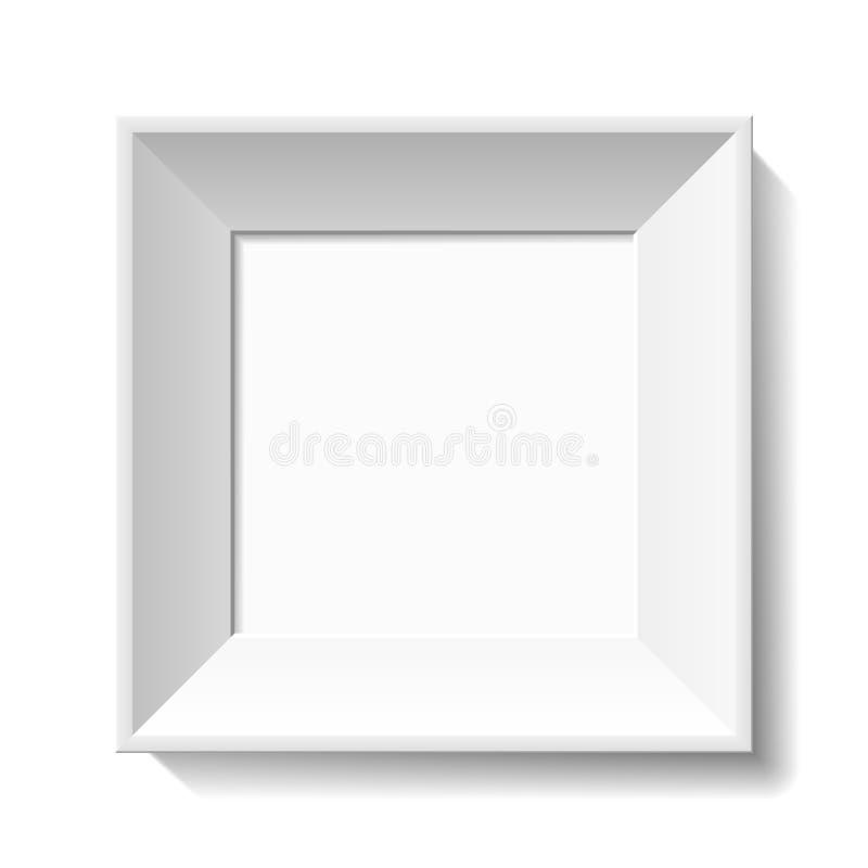 Marco blanco de la foto stock de ilustración