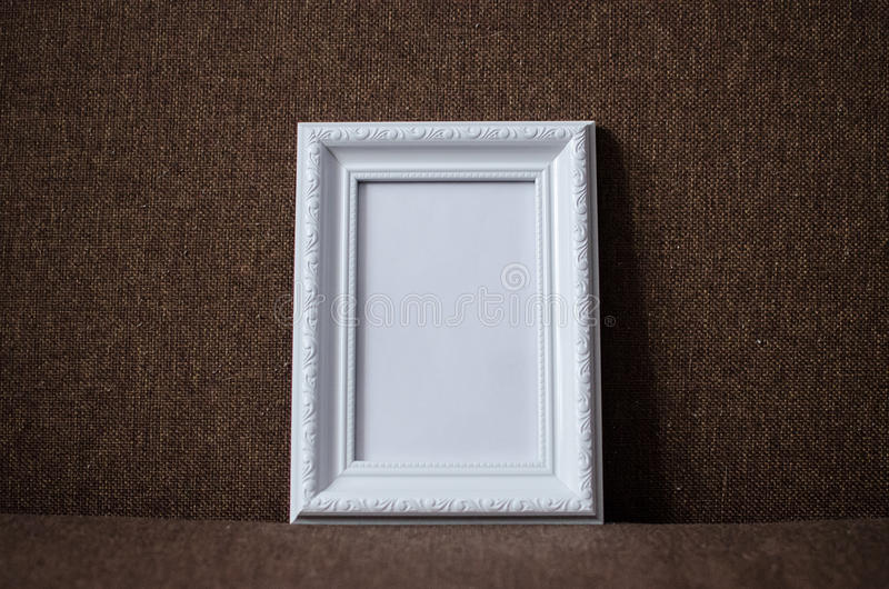 Marco blanco de la foto fotografía de archivo