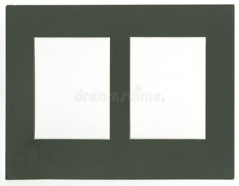 Marco blanco de plata retro aislado de oro de la imagen de los marcos vacíos del fondo fotos, postales o gráficos del pasaporte d ilustración del vector