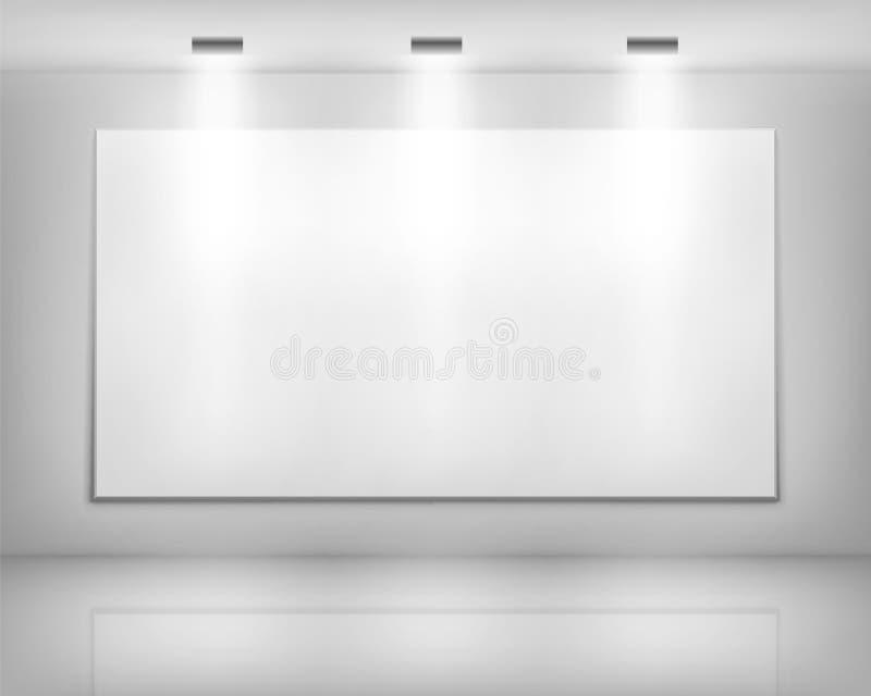 Marco Blanco En Galería De Arte Stock de ilustración - Ilustración ...