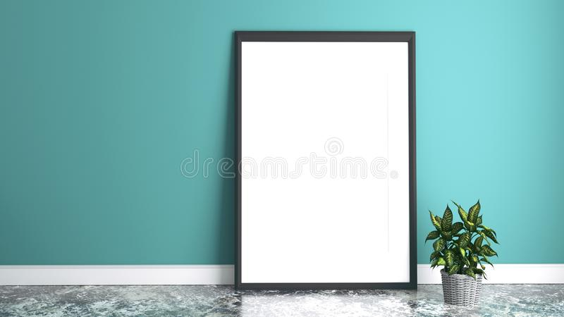 Marco blanco representaci?n 3d ilustración del vector