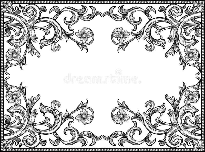 Marco blanco y negro libre illustration