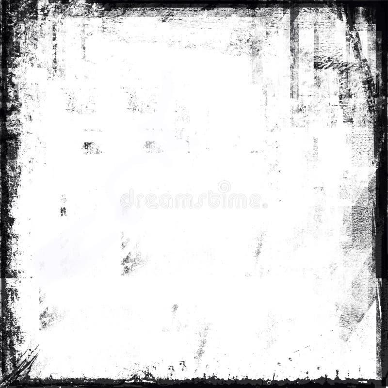 Marco blanco y negro de Grunge ilustración del vector