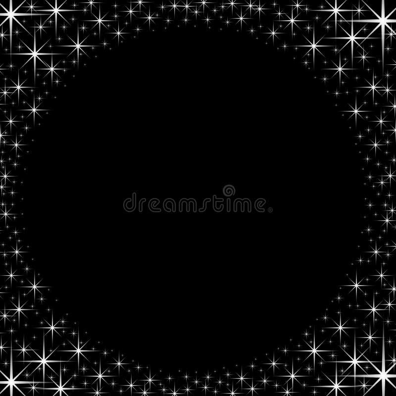 Marco brillante de la frontera de la estrella ilustración del vector