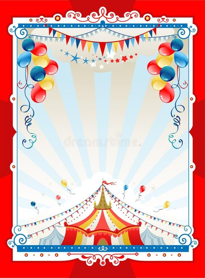 Marco brillante del circo stock de ilustración