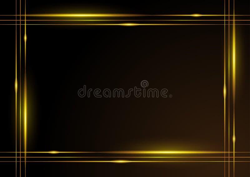Marco brillante del oro ilustración del vector