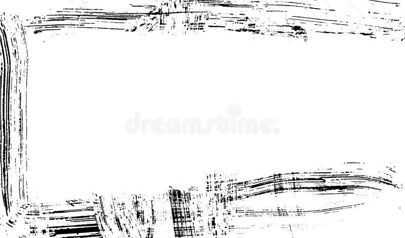 Marco cepillado de la textura de la impresión de la tinta en el vector de papel ilustración del vector