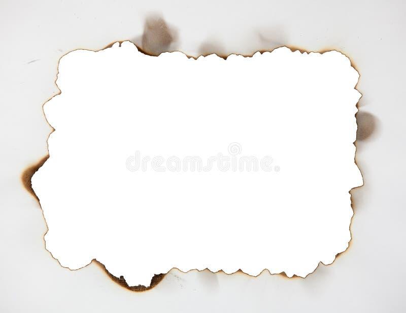 Marco chamuscado en el papel foto de archivo libre de regalías