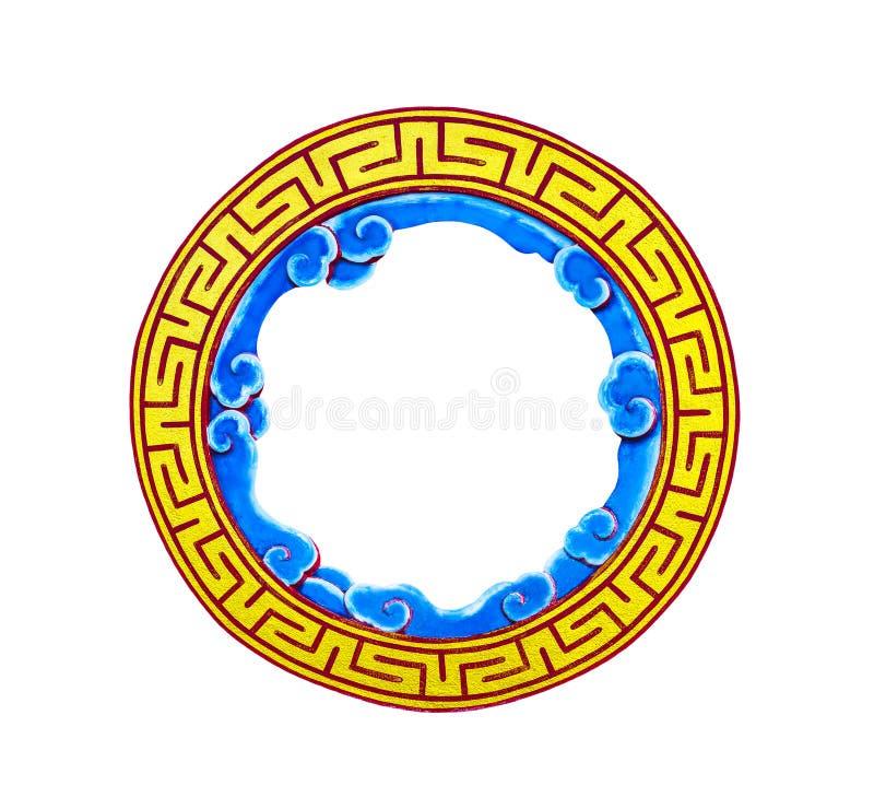 Marco chino circular de oro foto de archivo