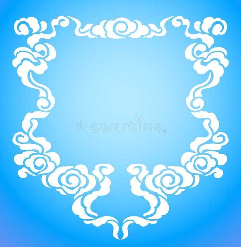 Marco chino de la nube ilustración del vector