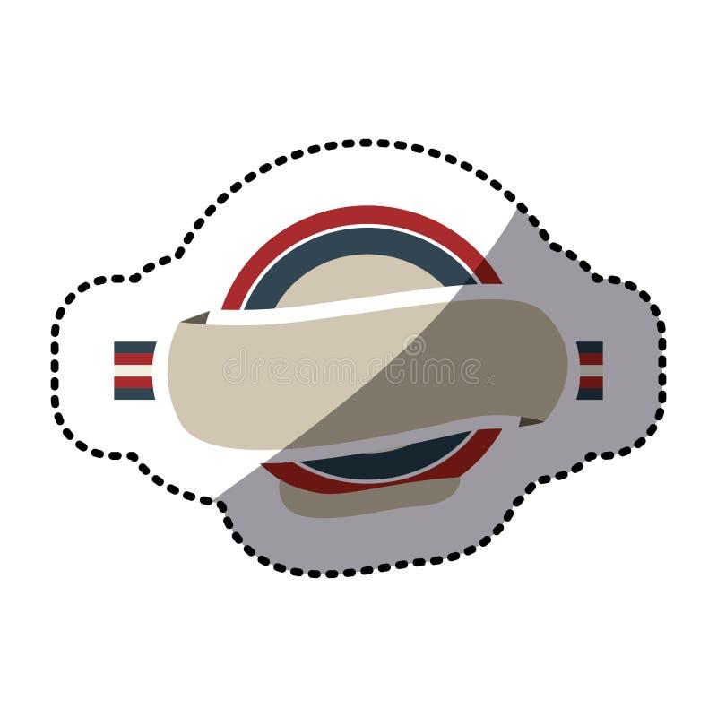 Marco Circular De La Etiqueta Engomada Con La Bandera Reino Unido ...