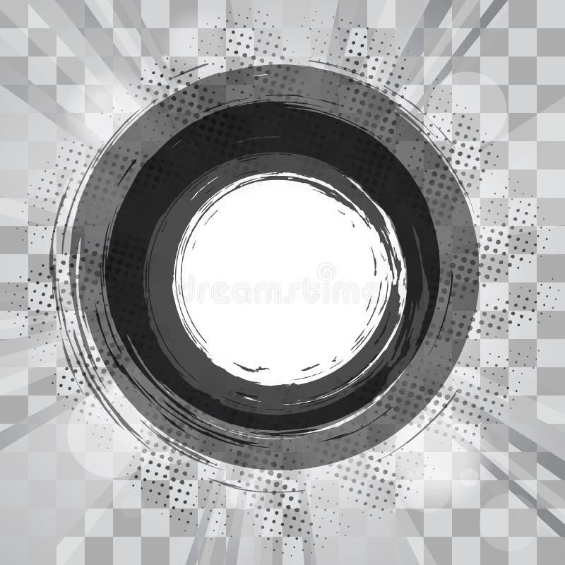 Marco Circular Del Grunge Con Las Partes B Del Gráfico Del ...