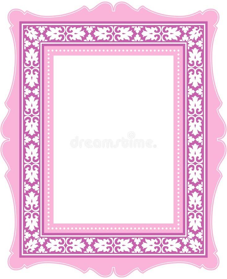 Marco clásico rosado stock de ilustración