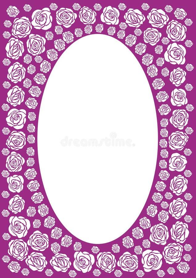 Marco color de rosa de la púrpura stock de ilustración