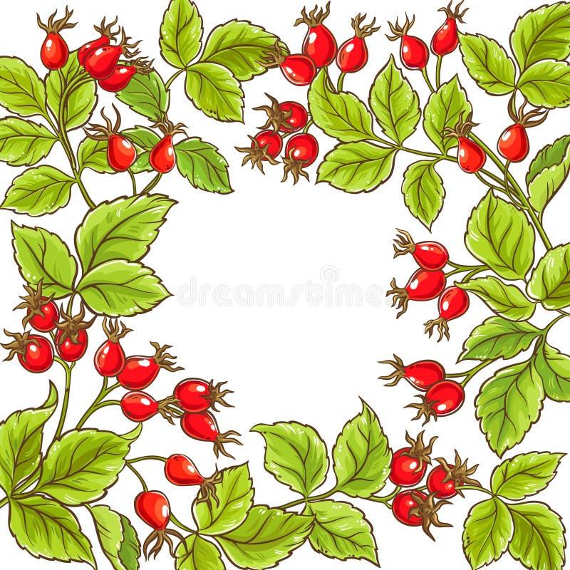 Marco color de rosa salvaje del vector stock de ilustración
