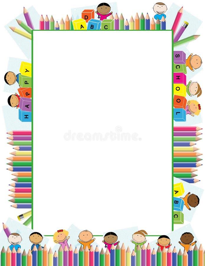 Marco coloreado para los niños libre illustration